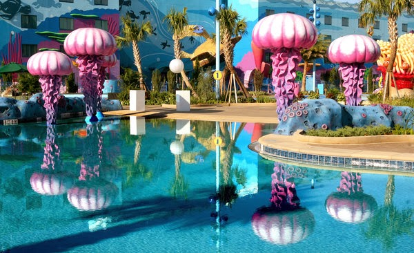 Now Moving On To The Pools Finding Nemo Pool Is By Far Nicest Feature Of All Value Resorts There Plenty Play Areas For Littlest